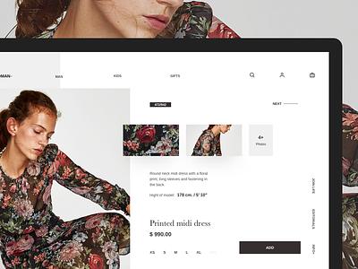 ADD to cart add cart fashion ui white minimal website zara