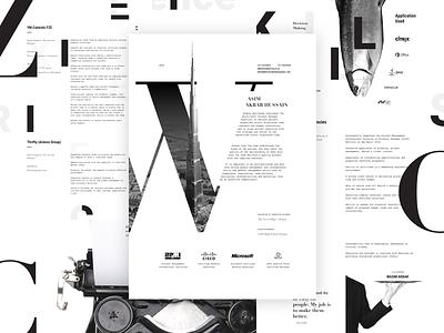 Curriculum vitae curriculum vitae cv typography