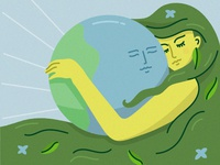 Mother Earth newearth nature mother earth trotyl-nat illustration freepik