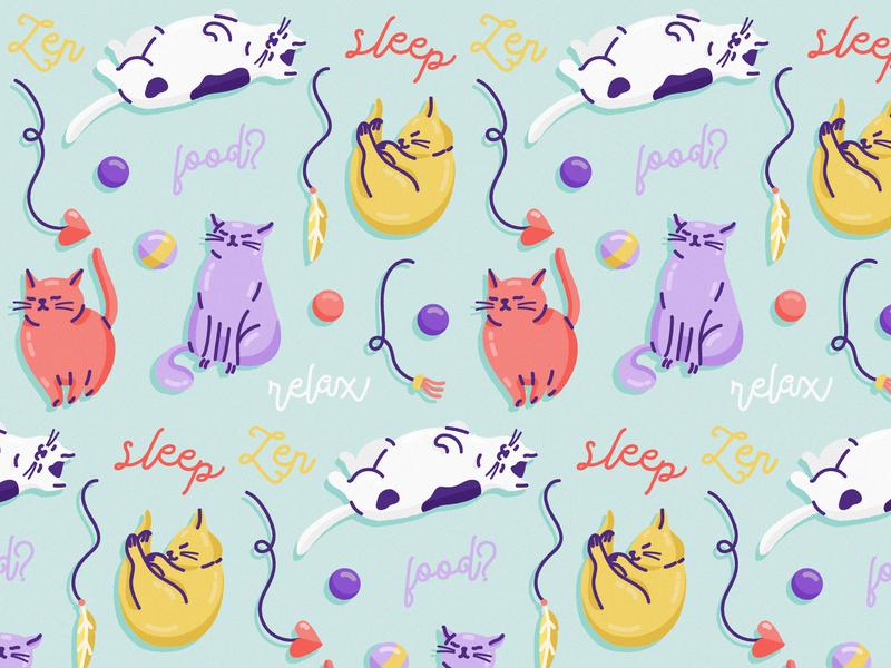 Cats Pattern freepik cat illustration cats pattern