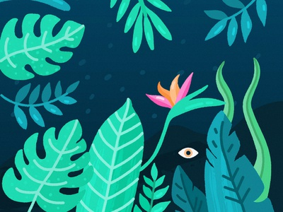 Tropical Background By Natalia Trotyl On Dribbble Looking for tropical background psd free or illustration? tropical background by natalia trotyl
