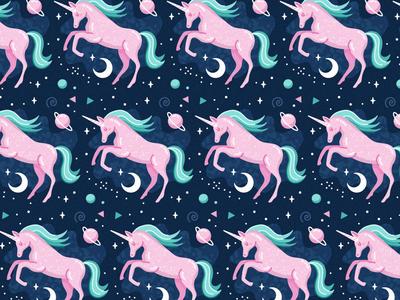 Unicorn Pattern 2 pattern unicorn illustration freepik