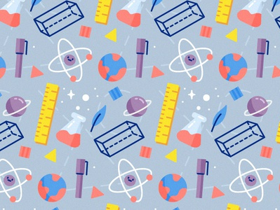 School Pattern sience illustration pattern freepik