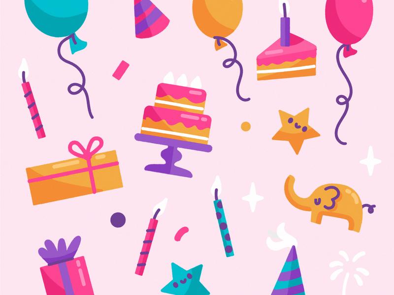 Happy birthday background birthday illustration freepik
