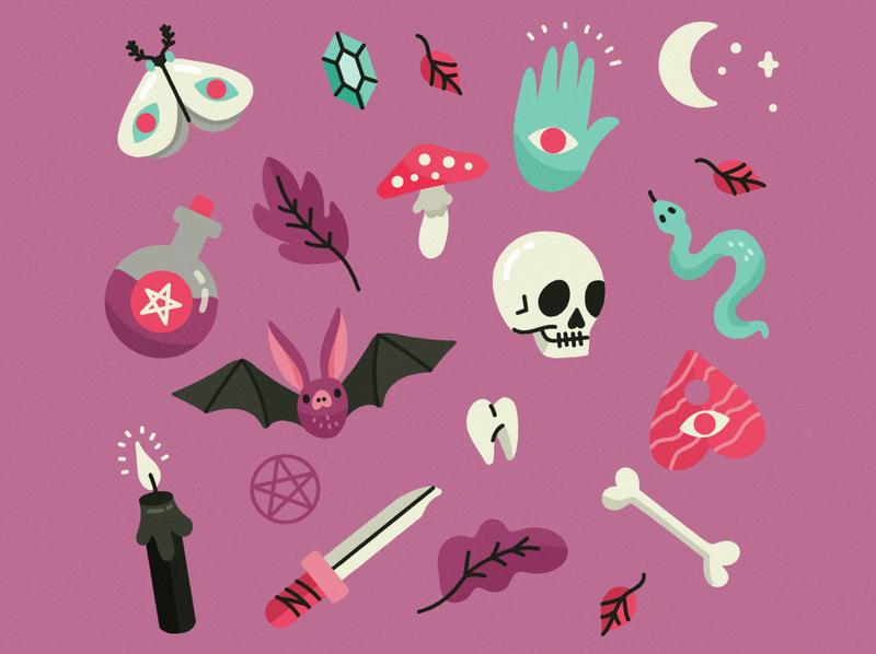 Halloween background halo trotyl-nat illustration freepik