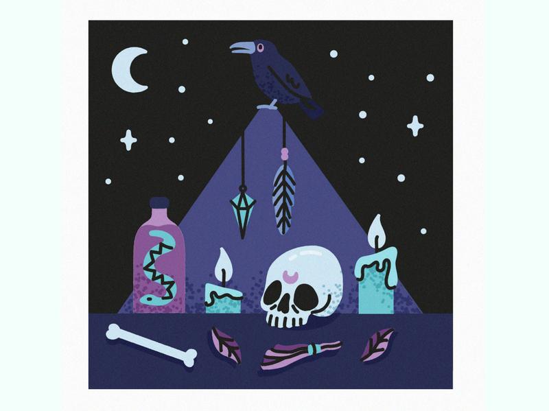 Black Magic skull magic trotyl-nat illustration freepik