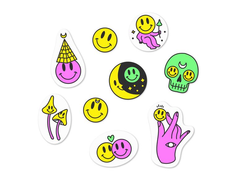 acid stickers trotyl-nat acid sticker illustration freepik