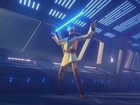 """Hello there"" obi wan kenobi starwars lowpoly 3d character cinema 4d illustration"
