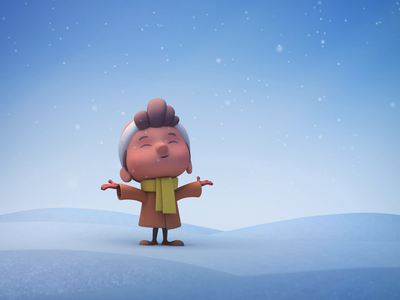 First Snow christmas snow 3d 3d art character lighting animation cinema 4d