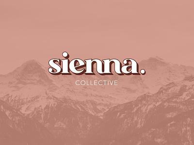 Sienna Collective Logo cannabis typogaphy logo branding design