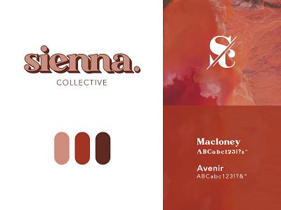 Sienna Collective Logo Plate typogaphy logo cannabis design branding
