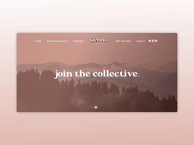 Sienna Collective Web Design minimal web website ux ui typogaphy logo design cannabis branding