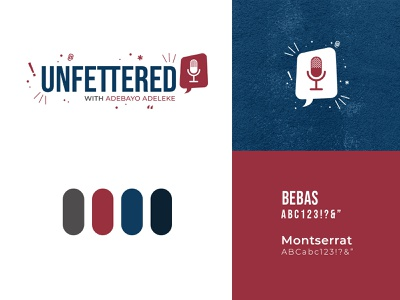 Unfettered Logo Plate podcast logo podcast icon typogaphy logo design branding