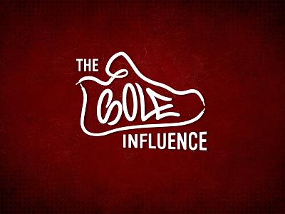 The Sole Influence Logo handlettering shoe typogaphy logo design branding