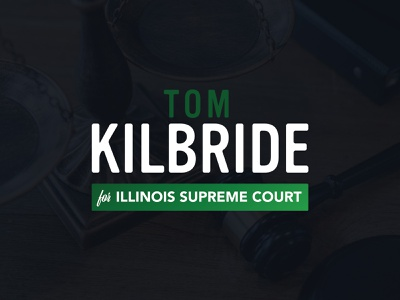 Tom Kilbride for Illinois Supreme Court Logo illinois political politics logo design branding