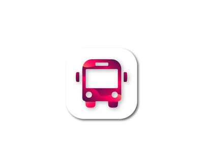 Abstract bus icon brand bus icon graphic design design logo app app icon design app icon branding logo design