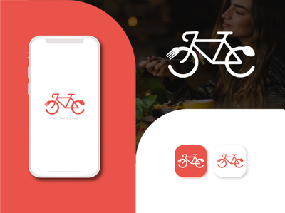 Food Delivery App Icon restaurant delivery icon illustration graphic design brand app icon design app icon branding food delivery app food delivery
