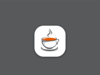 classic simple coffee cup icon