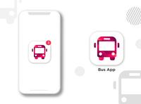 simple Bus icon icon illustration design app logo graphic design brand app icon design app icon logo design branding