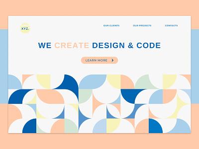Digital agency concept pattern art pattern design pattern concept art home screen homepage design homepage color abstract geometric geometric design geometric art graphic design design