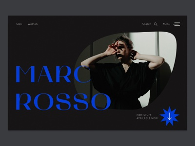 Fashion boutique | concept web design website ux  ui ui homepage color blue minimalism graphic design design typography art font awesome typography fashion brand concept boutique