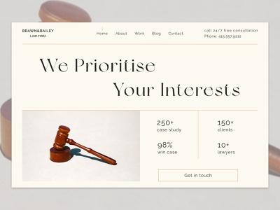 Lawyer firm | concept typography art minimalist brown beige landing page advocacy law lawyer minimalism homepage font awesome typography graphic design figmadesign advocate figma