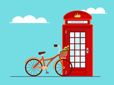 London web minimal graphic design vector illustration flat design