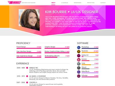 Kimbolt website redesign