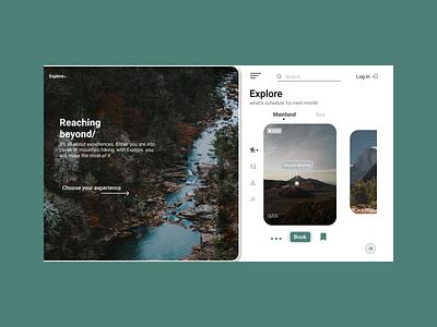 Explore. ui figma design