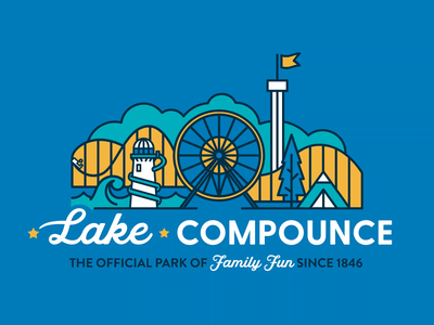Lake Compounce Rebrand animation theme park design brand suite brand guideline identity design logo branding