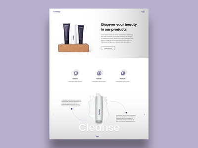 Curology clean simple clean interface simple minimalist graphic design illustrator website flat minimal web ux ui illustration design