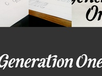 Generation One visual identity
