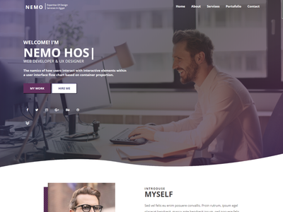 portfolio template jquery javascript bootstrap css3 css html html template