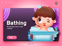 Bathing pig