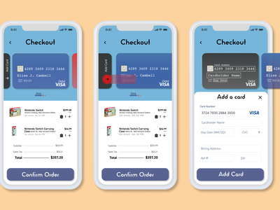 Credit Card Payment // Daily UI 002 dailyui credit card checkout figma mobile uiux cart