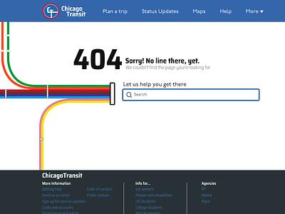 Chicago Transit 404 Page public transport transport error 404page daily 008 desktop daily challenge design figma dailyui