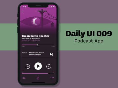 Daily UI 009 - Podcast Player daily challenge ui design figma mobile app dailyui009 dailyui music app podcast
