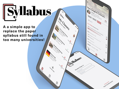 Syllabus - The Syllabus App logo mobile ui figma design mobile ui list student app design