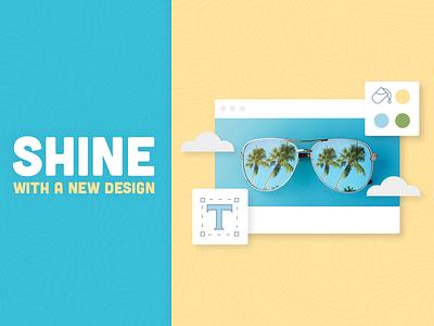 Shine With A New Design promo sunglasses shine summer illustration graphics vector