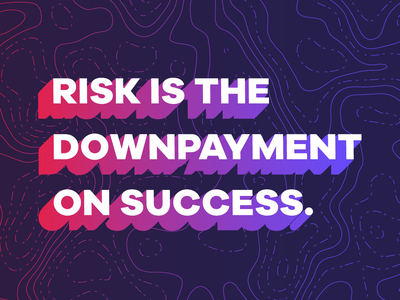 Wednesday Wisdom: Downpayment on Success gradients illustration graphic type vector