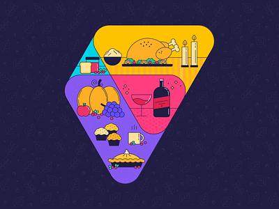 Thanksgiving Logo 2019 dinner thanksgiving design graphics vector illustration