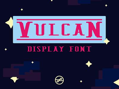 Vulcan Display Font pixelart pixel 8bit gaming videogames retrofont retro typedesign logo design typography font