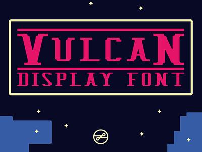 Vulcan Info Card Cover v2 typography design branding typedesign pixelart pixel gaming font 8bit retrofont