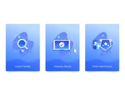 Blue Icons Illustration