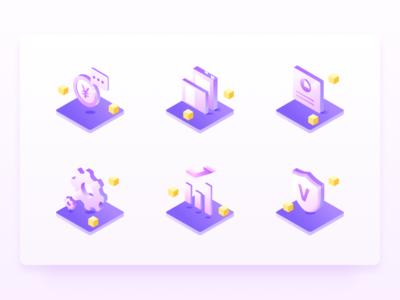Purple Icons Illustration
