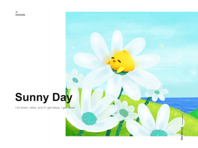 Baby Chick ui green blue chicken healing drawing dribbble design illustration