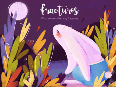 See the moon color purple spring rabit forest animals magazine banner ads graphic design branding idea web dribbble drawing design illustration