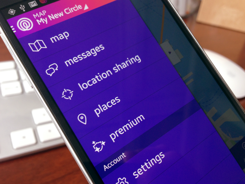 New Android release app native app menu navigation mobile android purple gradient life360