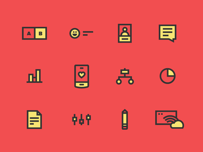 UX Icons icon ux user experience usability testing mobile prototyping personas research user flow interview iteration