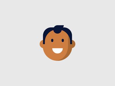 Smile maps iot jobs career hiring happy smile flat illustration